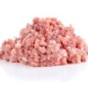 Raw fresh minced meat  isolated on white background