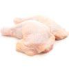 chicken thigh on white background